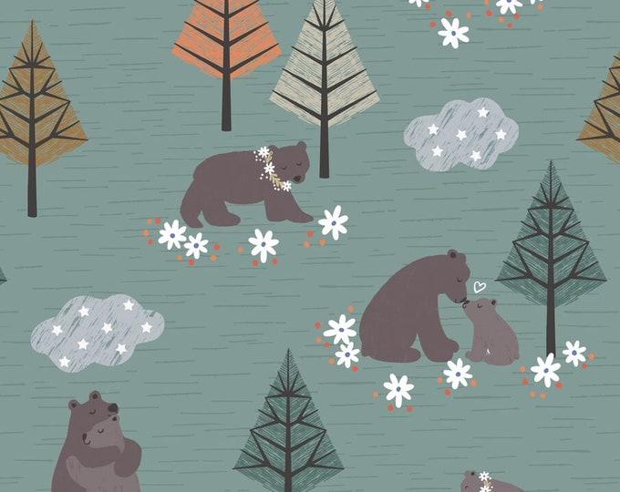 Pine Bear Hug A311.3 Cotton Woven Fabric - Bear Hug - Lewis & Irene