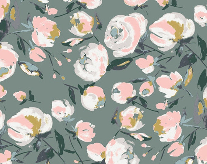 Art Gallery Fabric - Sparkler Fusion -Everlasting Blooms - Cotton Woven