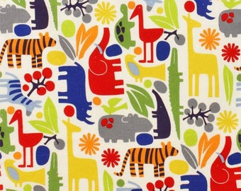 Alexander Henry Zoo Primary Colors Cotton KNIT Fabric