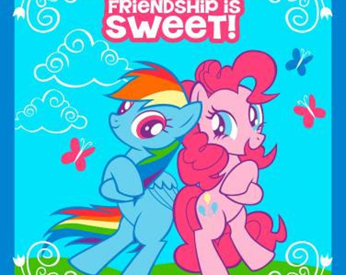 "Springs Creative - My Little Pony, Friendship is Sweet 36"" Panel Cotton Woven Fabric"
