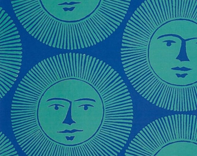 Alexander Henry Fabric - Here Comes the Sun- Blue - Cotton Woven Fabric