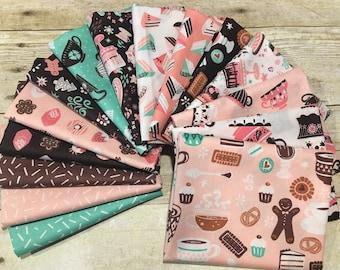 "Camelot Fabrics - Gingerbread Bakery - 2.5"" Strip Roll  Cotton Woven Fabric"
