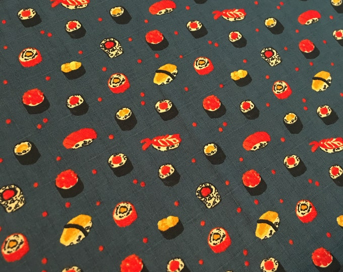 Sushi on Navy 301-1105 2-d Cotton Woven by Lecien fabrics