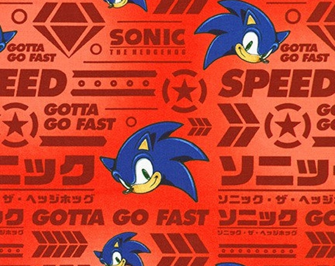 Robert Kaufman Fabrics - Licensed Sonic the Hedgehog - AXX-73951-3 RED - Cotton Woven Fabric