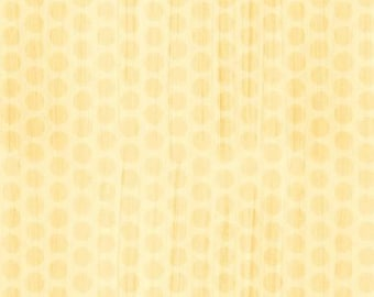 CLEARANCE - On The Road Again Pale Yellow Dot cotton fabric - 1 yard listing