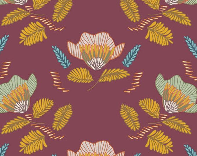 Art Gallery Fabrics - Autumn Vibes - Pressed Ablossom - Auburn -  Cotton Woven Fabric - Maureen Cracknell