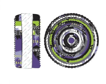 Camelot Fabrics- Licensed Beetlejuice - 2.5 Inch Strips, 40 Piece Bundle #23340104STR - Cotton Woven Fabric