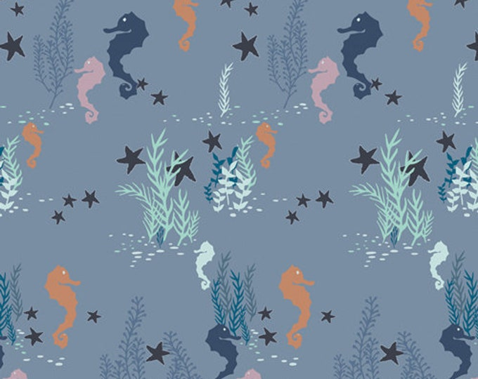 Art Gallery Fabrics - Enchanted Voyage by Maureen Cracknell - Seahorse Magic Shallow ENV-71782 - Cotton Woven Fabric