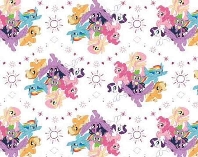 White My Little Pony Digital Cotton Woven