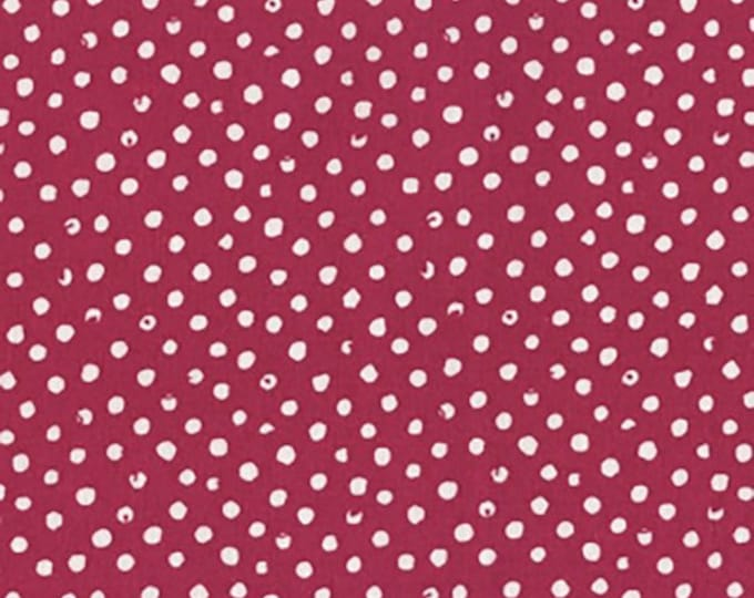 Dear Stella Confetti Dots Berry Cotton Woven