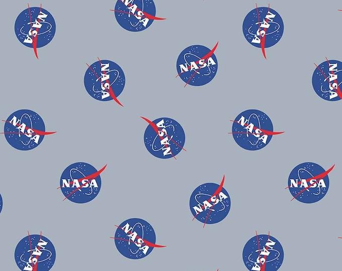 NASA Out of This World - Main Print - Gray - Cotton Woven Fabric - C7800-Gray