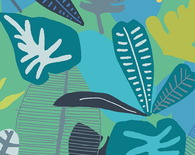 CLEARANCE - Art Gallery Fabric - Sirena  - Jungle Tropicale - Cotton Woven Fabric - Price per yard