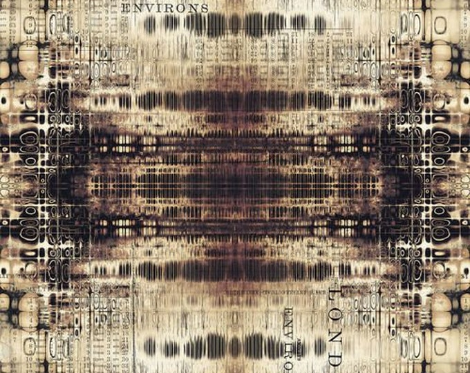 Free Spirit - Eclectic Elements - Abandoned by Tim Holtz -  London Gridlock - Neutral PWTH127.NEUTRAL - Cotton Woven Fabric