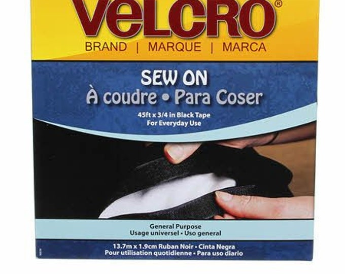 Notion - VELCRO® Brand Fastener Regular Duty Tape Black, 3/4 inch wide #90036V - Sold by the yard