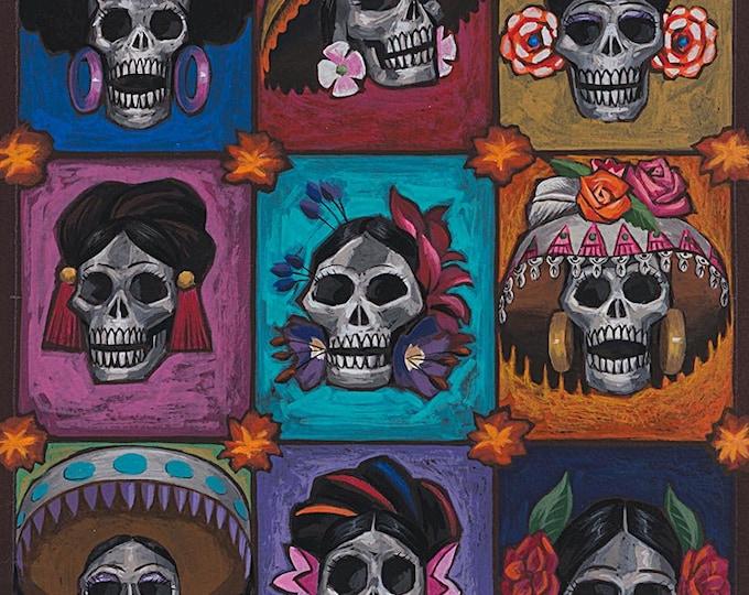Tea Dye La Señoras Elegantes Cotton Woven Fabric #8721B- Alexander Henry Fabrics