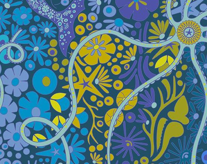 Andover Fabrics - Diving Board by Alison Glass -  A 8634 B Lagoon Pearl Cotton Woven