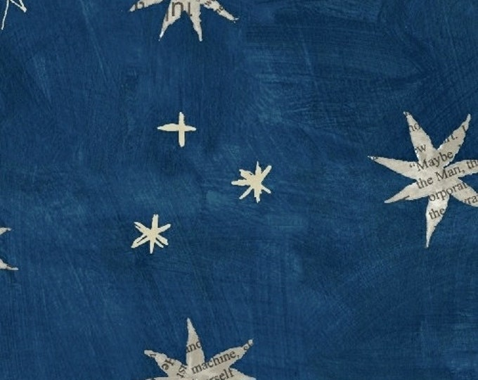 Carrie Bloomston - Wonder - Stars on Blue - Cotton Woven Fabric - Windham 50517-2