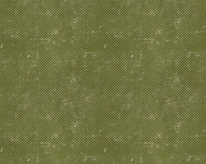 FreeSpirit - Merriment by Tim Holtz - Green Dots  Cotton Woven Fabric