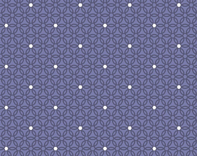 Quilting Treasures - Circle of Friends by Donna Robertson - Violet Dot Geo 27368 V - Cotton Woven Fabric