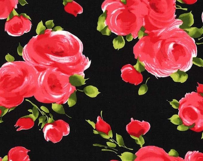 Michael Miller Fabrics - Charming by Gertie - Valentina - Noir - Cotton Woven Fabric