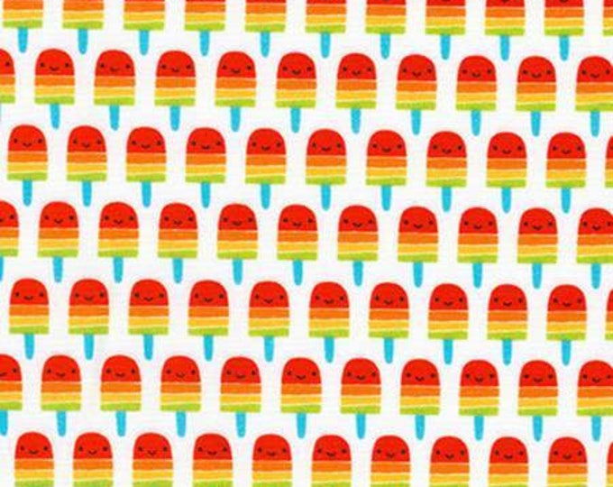 Robert Kaufman Fabric - Suzy's Minis by Suzy Ultman - Mini Red Popsicles on White cotton woven fabric