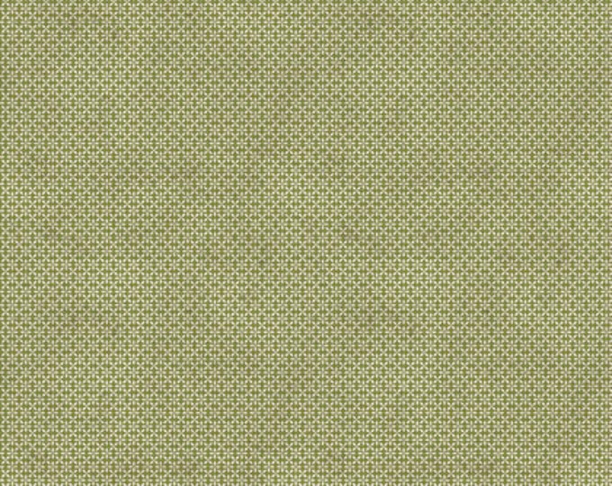 FreeSpirit - Merriment by Tim Holtz - Green Leaf  Cotton Woven Fabric