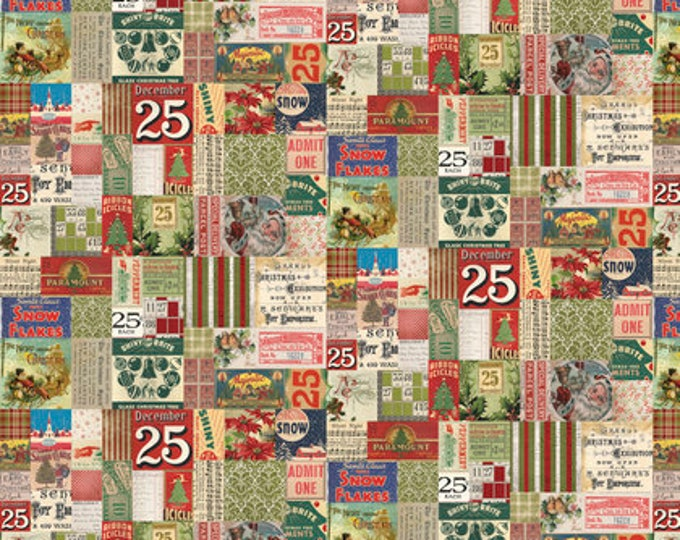 25th from Merriment Cotton Woven by Tim Holtz for Freespirit