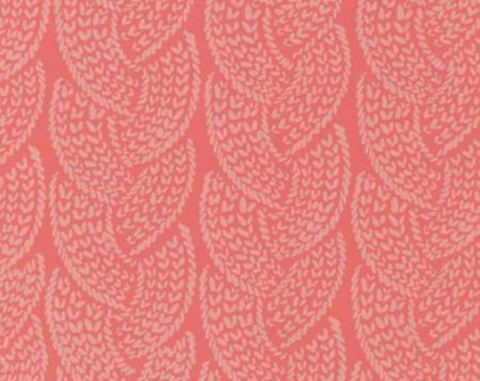 Snofall, Coral Cable Cotton Woven by Rae Ritchie for Dear Stella Designs