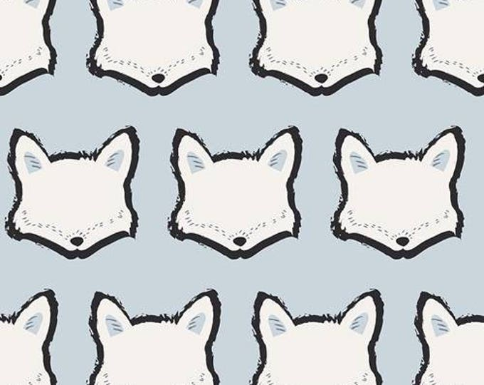 Nest, Clever Little Fox Cotton Spandex knit fabric by Art Gallery cotton woven fabric