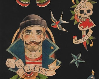 Alexander Henry Fabric - Anchors Away - Black - Cotton Woven Fabric