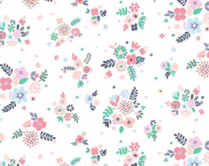 Dear Stella - No Probllama - Desert Flowers  - White - Cotton Woven Fabric - Dear Stella-1046