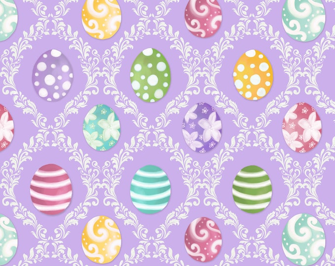 Blank Quilting - Hoppy Easter by AJ Watercolor Studio - Easter Egg Harlequin #9525-44 Cotton Woven Fabric