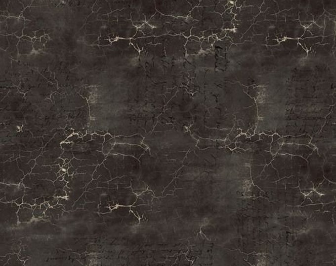 Free Spirit - Eclectic Elements - Abandoned by Tim Holtz - Cracked Shadow - Black PWTH128.BLACK - Cotton Woven Fabric