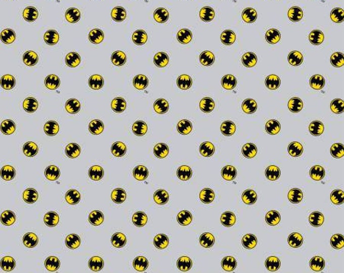 Camelot Fabrics - DC Comics -  Light Grey Batman Logo Cotton Woven fabric
