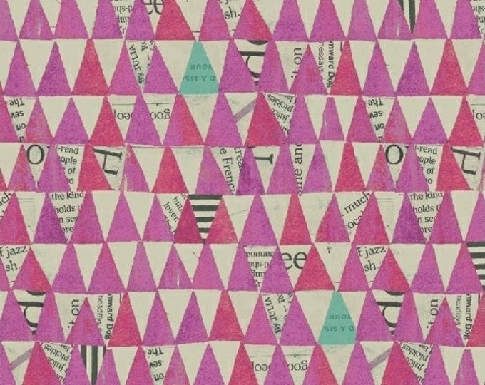 Carrie Bloomston - Wonder - Triangles Purple - Cotton Woven Fabric - Windham 50521-7