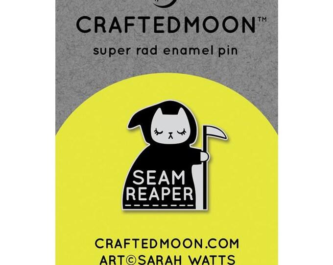 "Fun Stuff -Moda Fabrics -  Ruby Star Society CRAFTEDMOON Enamel Pins - Seam Reaper CM ENP 001 - 1"""