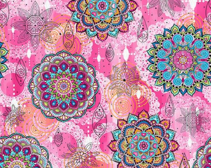 Blank Quilting - Mandala Tango - Pink Mandala #B-9647-22 Cotton Woven Fabric