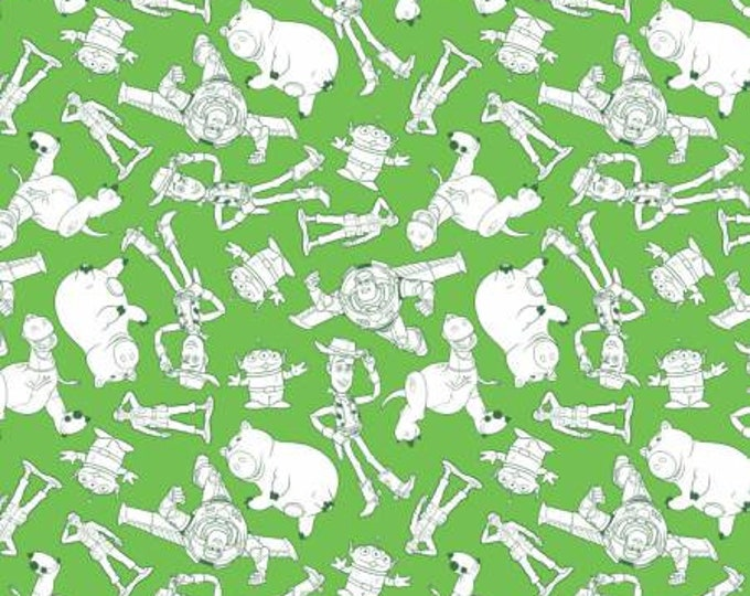 Disney Pixar - Toy Story Characters Cotton Woven Fabric