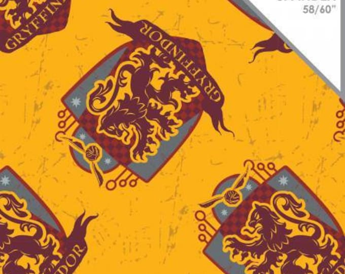 Harry Potter Gryffindor Cotton Spandex Knit fabric by Camelot Fabrics