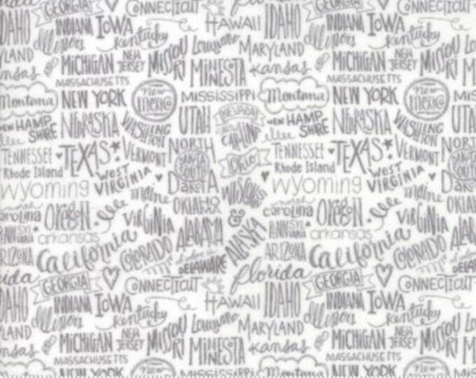 Moda - Metropolis - Stately - Fog - Cotton Woven Fabric