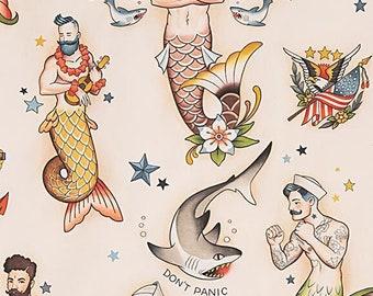 Alexander Henry Fabrics -  Nicole's Prints  - 8833a Tea Rise & Shine - Cotton Woven Fabric