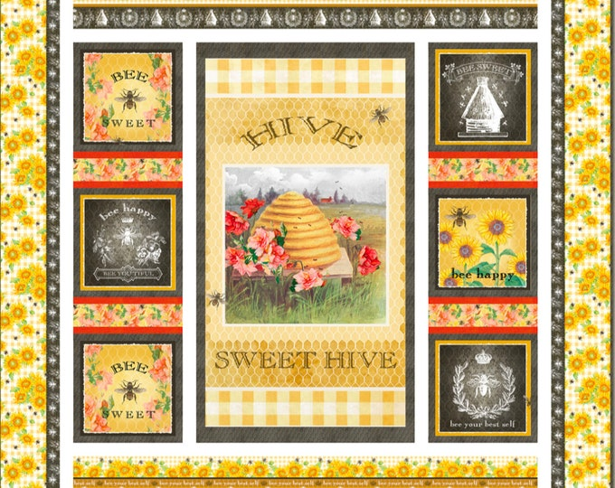 Quilt Kit - Studio E Fabrics - Bee Sweet By Cerrito Creek **Limited Release**
