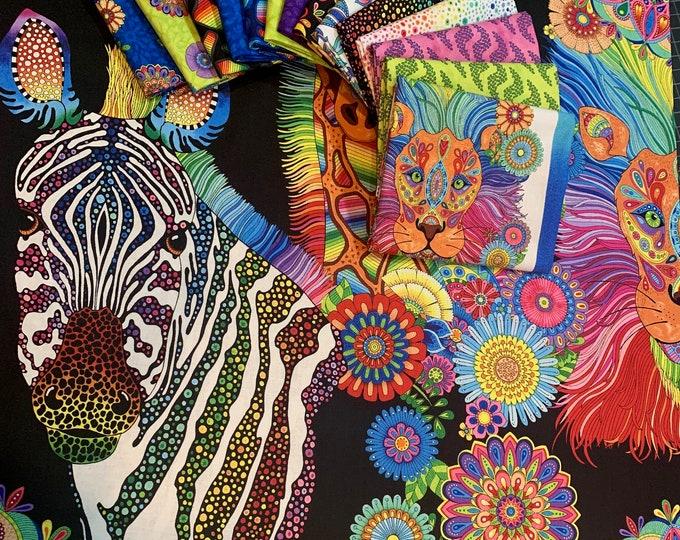 Wilmington - Safari, So Goodie by Hello Angel - 40 Piece 2.5 Inch Strips Bundle #Q840-559-840 - Cotton Woven Fabric