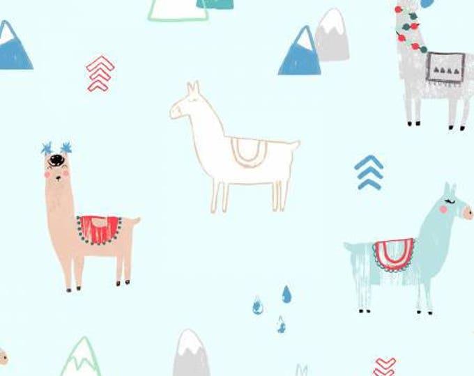 Dear Stella - No Drama Llama - Mist Llama Cotton Woven