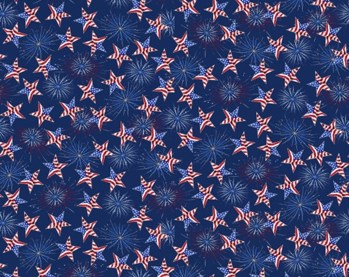 Studio E Fabrics - America Home of the Brave by Sharla Fults - Tossed Stars   #4626-77 Cotton Woven Fabric