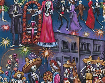 Alexander Henry Fabric - Bright La Parranda #8720A Cotton Woven Fabric