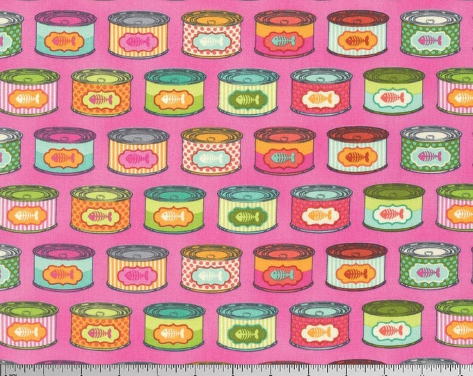 Tula Pink - Tabby Road - Cat Snacks Marmalade Skies Cotton Woven Fabric