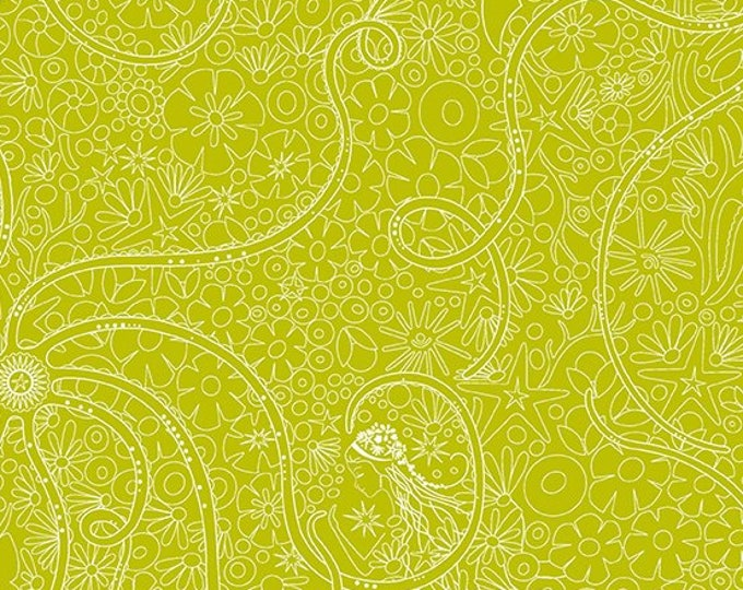 Andover Fabric -  Sunprint 2018 - Alison Glass -  Depths Pear A 8674 G cotton woven fabric