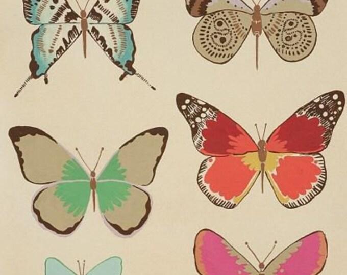 El Tiempo de Mariposa - Tea Dye, Frida cotton fabric by Alexandy Henry Fabrics