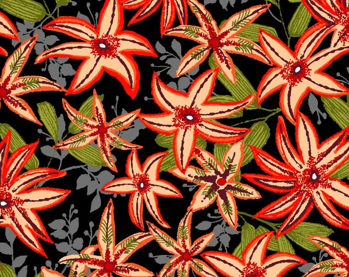 Paintbrush Studio - Ubuntu - Coral Flowers #120-99822 Cotton Woven Fabric